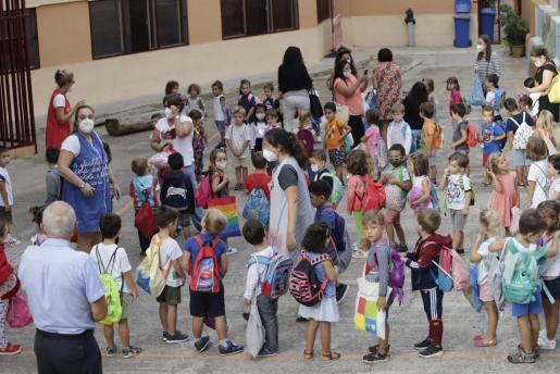 En la mayoría de los colegios de Baleares, las clases se están impartiendo sin incidentes.