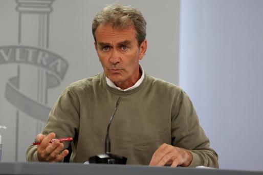 El director del Centro de Alertas Sanitarias, este lunes, en rueda de prensa en la sede del Ministerio de Sanidad, en Madrid.