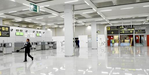 El aeropuerto de Palma ha tenido que ser desalojado en parte.