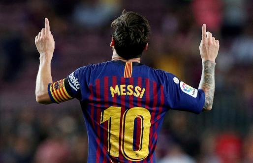 El futbolista de FC Barcelona Messi.