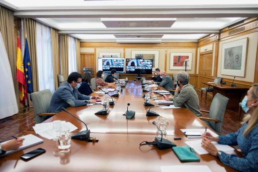 El ministro de Sanidad, Salvador Illa presidiendo la reunión del Consejo Interterritorial del Sistema Nacional de Salud (SNS).