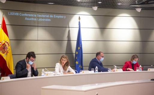 La ministra de Trabajo, Yolanda Díaz, presidió la Conferencia Sectorial de Empleo y Asuntos Laborales celebrada este miércoles en la sede del Ministerio, en Madrid.
