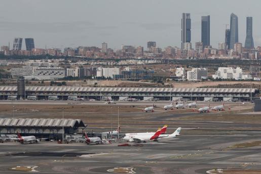 Imagen general de las pistas del aeropuerto de Barajas.