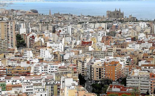 Vista aérea de Palma, una ciudad con los precios de alquiler elevados.
