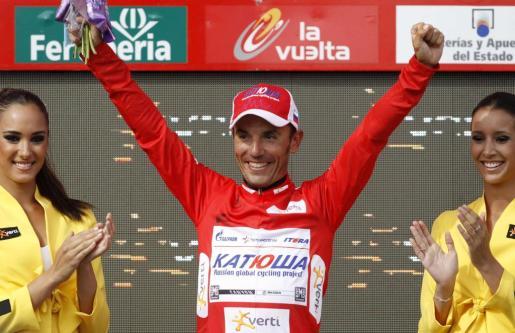 """Joaquim """"Purito"""" Rodriguez mantiene un día más el liderato de la Vuelta."""