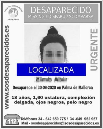 SOS Desaparecidos agradece la colaboración ciudadana.