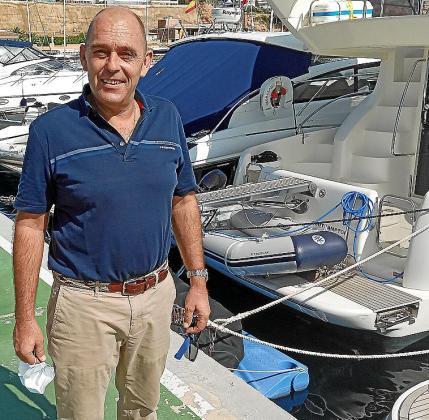 Michael Heinig, en el pantalán de Puerto Portals.