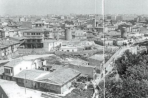 Panorámica de es Jonquet, en primer plano, y de Santa Catalina en una fotografía tomada en 1958.