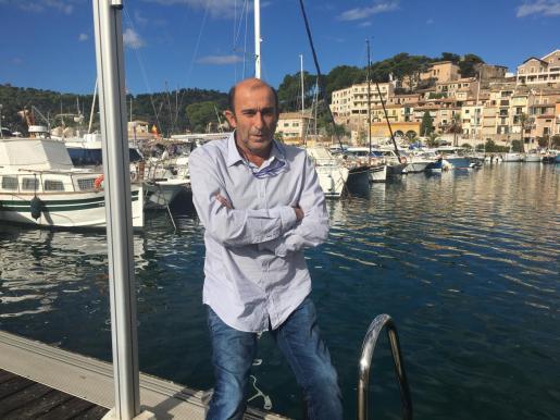 Santiago Mayol, en el Port de Sóller.