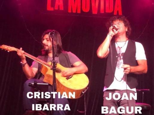 Joan Bagur y Cristian Ibarra en concierto dúo acústico.
