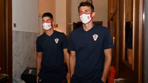 El jugador del Real Mallorca Ante Budimir, en la concentración de la selección de Croacia.