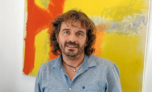 El regidor Joan Aznar en su despacho, en el Ajuntament de Felanitx.