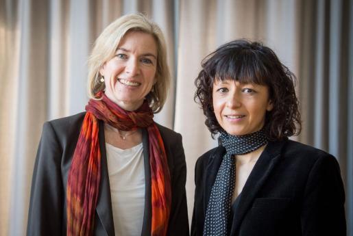 Emmanuelle Charpentier y Jennifer A. Doudna, Premio Nobel de Química 2020.