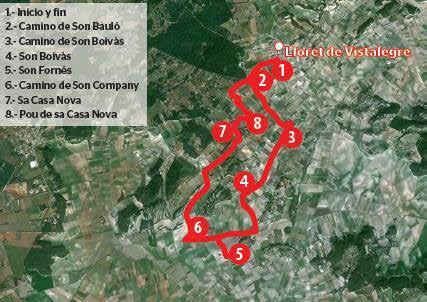 Ruta de Lloret a Son Fornés.
