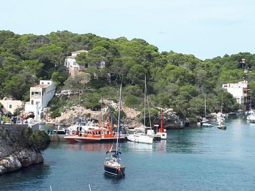 Los migrantes fueron trasladados desde Cala Figuera al puerto de Palma.