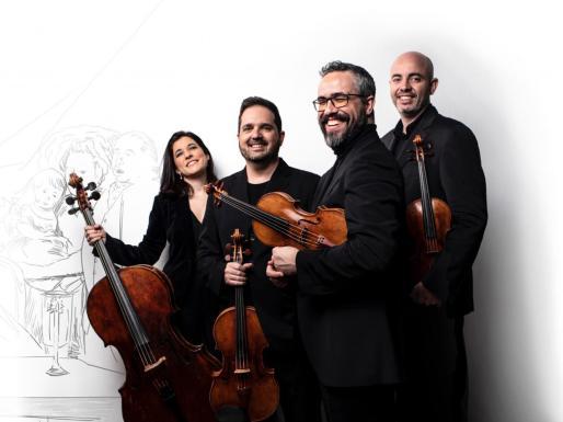 Imagen promocional del reconocido conjunto Cuarteto Quiroga.