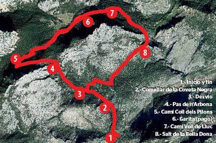 Vuelta al Puig Caragoler del Guix por el Pas de n'Arbona y la Llengonissa