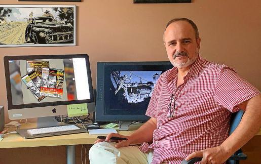El animador Marcos Mateu mestre, en su estudio de Los Ángeles en una imagen reciente.