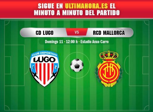 El Mallorca de Luis García Plaza visita este domingo el Anxo Carro de Lugo en busca de un nuevo triunfo.