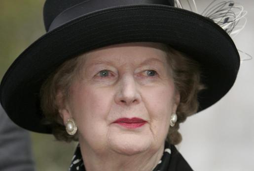 Fotografía del 8 de noviembre de 2005 de la ex primera ministra británica Margaret Thatcher durante un homenaje al también ex primer ministro conservador Sir Edward Heath, en la Abadía Westminster de Londres (Reino Unido).