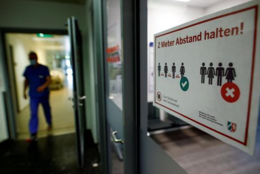 Imagen de la puerta del hospital St.-Antonius-Hospital Eschweiler, en Eschweiler.