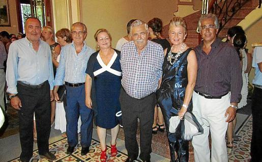 Jesús Boyero, Fernando Rotger, Mª Antònia Carbonell, Pere A. Serra, Rosa Mª Regi, y Rogelio Araújo.