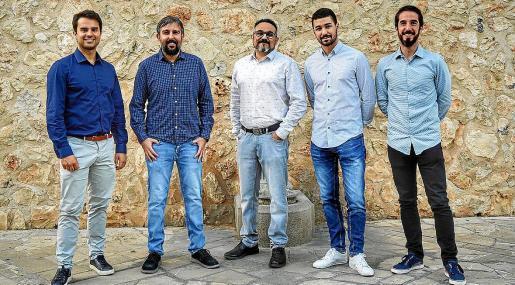 De izq a dcha: Daniel Bestard, Tófol Torrens, David Martín, Óscar García y Joan Martín.