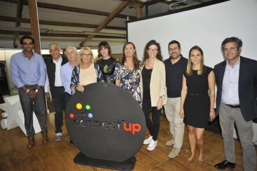 Los miembros del jurado de Connect'Up Grow 2019, que premiaron a Inn Sampol por su idea innovadora.
