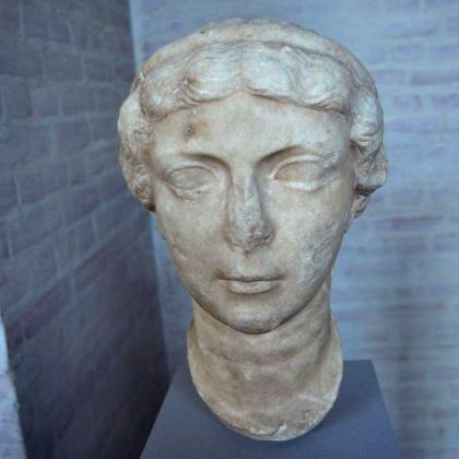 El busto romano de Antonia Minor robado en la localidad gaditana de Bornos en 2010.