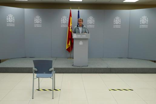El director del Centro de Coordinación de Alertas y Emergencias Sanitarias del Ministerio de Sanidad, Fernando Simón, durante la rueda de prensa celebrada este jueves en el Ministerio de Sanidad en Madrid.