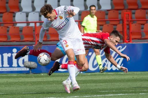 Acción del partido que disputaron Lugo y Real Mallorca.