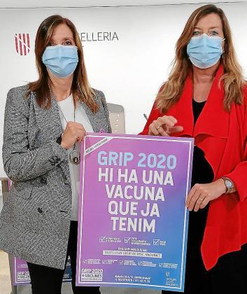 La responsable de Salut Pública, Maria A. Font, y la consellera Gómez.