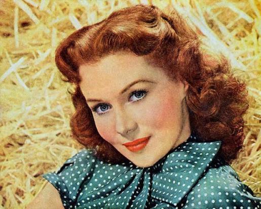 Imagen promocional de Rhonda Fleming en 1951.