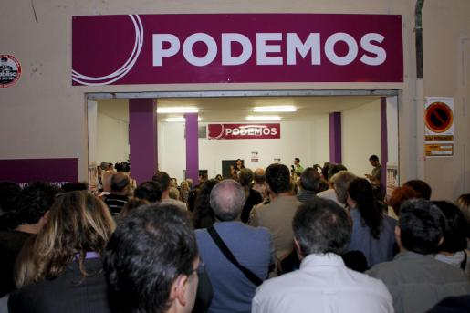 Imagen del día que Podemos inauguró sede en Baleares.