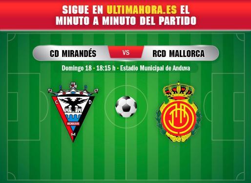 El Real Mallorca visita este domingo el estadio municipal de Anduva para enfrentarse al Mirandés.