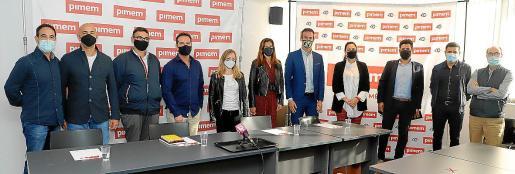 Presentación de la nueva asociación empresarial PIMEM-Cátering, este lunes, en la sede de la patronal.