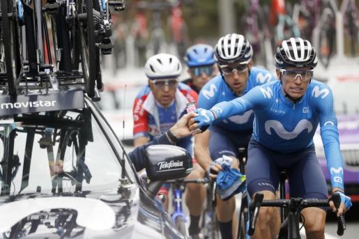 El ciclista mallorquín Enric Mas durante la primera etapa de La Vuelta.