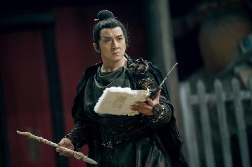 El actor chino Jackie Chan, mientras participa en la grabación de una película.