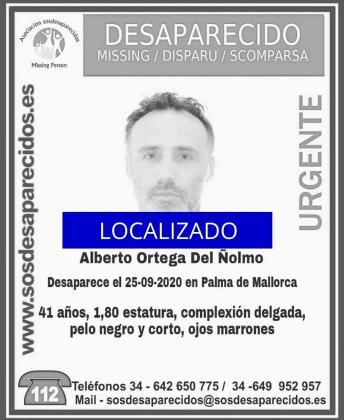 Alberto Ortega del Ñolmo ha sido localizado.