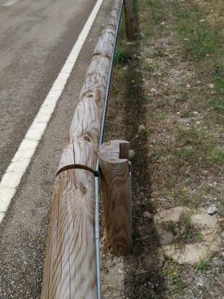 El Consell sustituirá más de 30 kilómetros de barreras metálicas por protecciones de madera en carreteras de la Serra de Tramuntana.