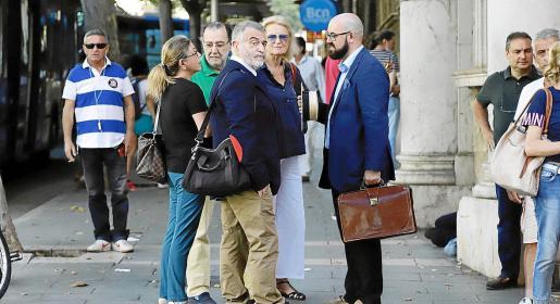 En primer término, Miguel Beltrán, el catedrático de la UIB ahora condenado por coacciones.