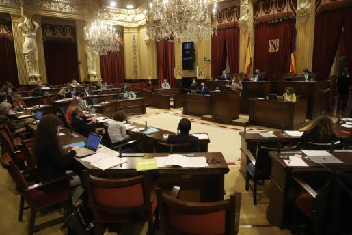 Momento del debate de política general celebrado en el Parlament.