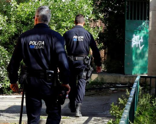 Agentes de la Policía Local de Palma.