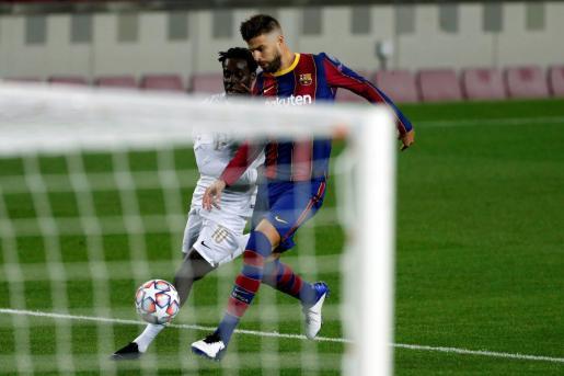 Imagen del defensa del FC Barcelona en su último encuentro.