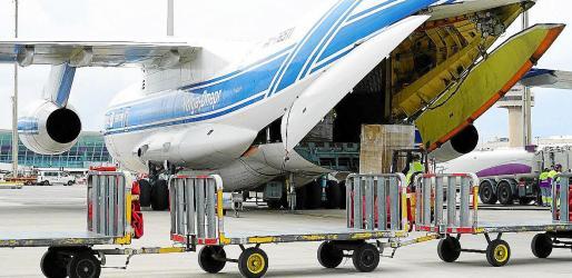 Uno de los cargamentos de material sanitario comprados por Balears de emergencia en China.