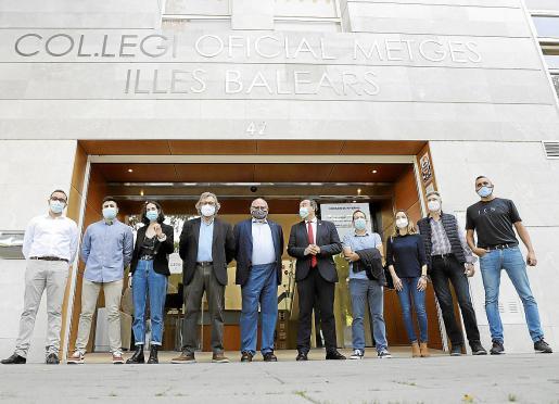 Representantes de diferentes sociedades científicas del Foro de la Profesión Médica en Baleares.