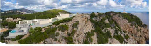 Un fotomontaje muestra como quedaría el entorno si se llevara a cabo la construcción en la parte alta del faro.