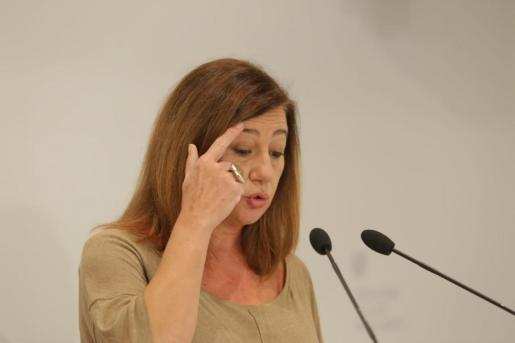 Francina Armengol, durante su intervención.