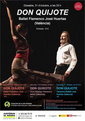 El Ballet Flamenco de José Huertas llega a los escenarios del Auditòrium Sa Màniga.