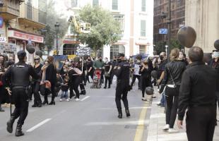 Manifestación parques infantiles Palma